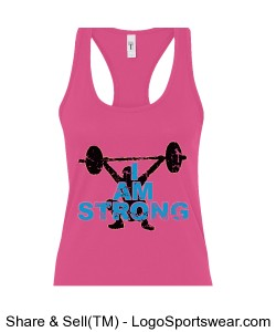I AM STRONG Women's Tank Design Zoom